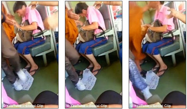 Watch Video of Australian Passenger Slaps by Monk on the Train