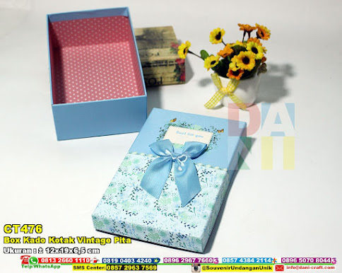 Box Kado Kotak Vintage Pita