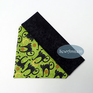 Halloween Dog Bandana, Over the Collar, Black Cats