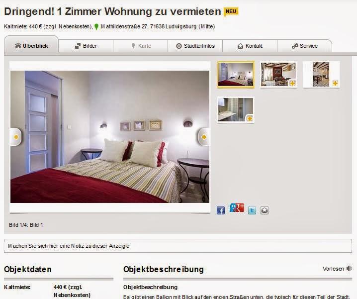 Zimmer Wohnung Ludwigsburg