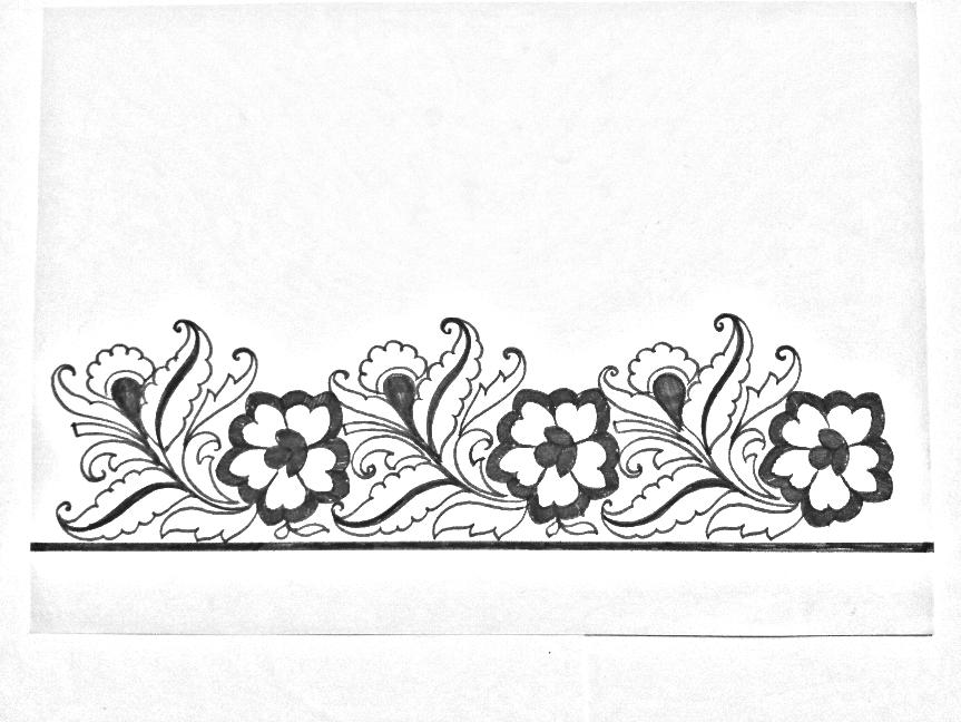 Butta Dress Design Sketches Flower Sketches Hand T