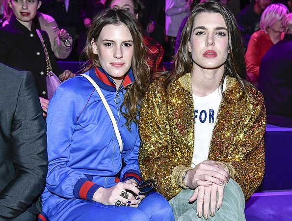 Charlotte Casiraghi also had what appeared to be a Gucci handbag slung over her shoulder.