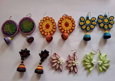 2015 latest fancy quilling earring designs - quillingpaperdesigns