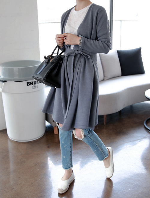 V-Neck Robe Cardigan