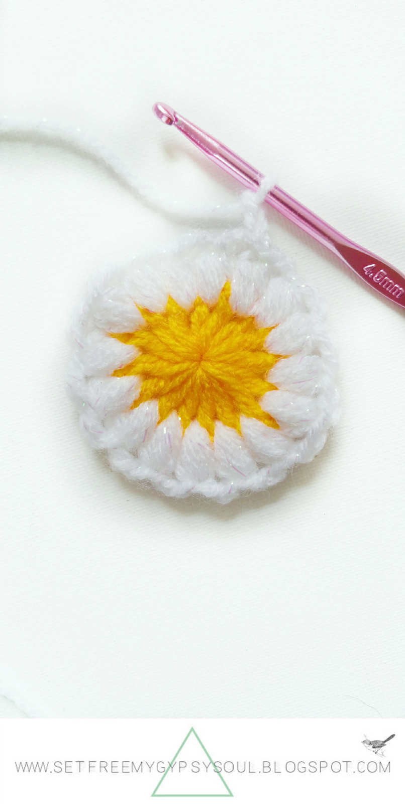 daisy dukes flower 3d granny square free crochet pattern step by step