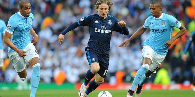 Luka Modric lors du match aller
