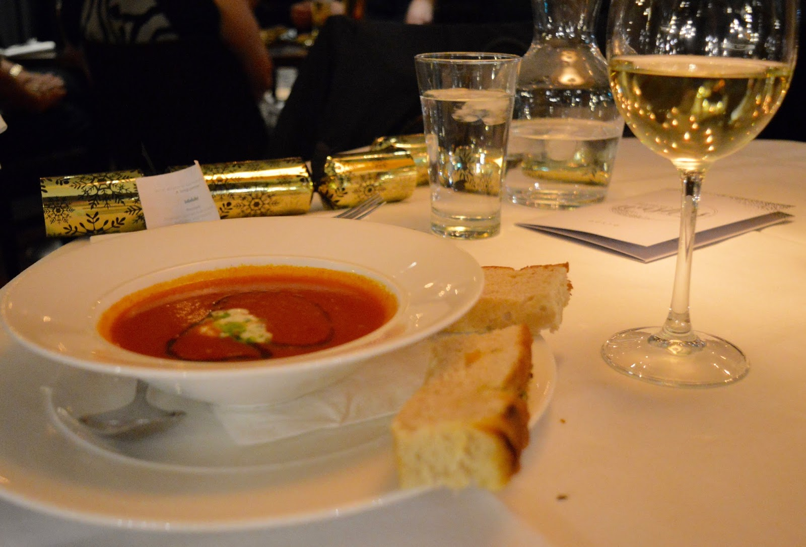 Celebrate Christmas at Newcastle Gusto  - roasted red pepper soup