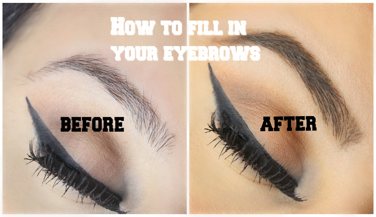 HOW TO FILL IN AND DO YOUR EYEBROWS   BUDGET FRIENDLY ...