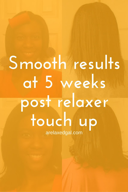 Even at five weeks post relaxer touch up it's possible to achieve smooth results during a wash day. | arelaxedgal.com