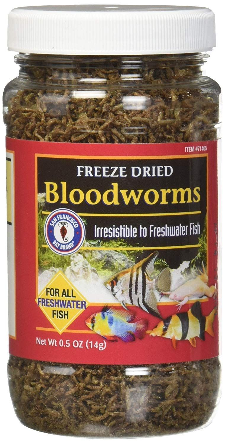 Image Betta Fish Food for Goldfish-bloodworms