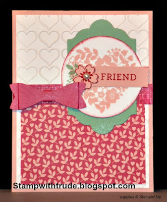 Bloomin Love stamp set, Tuesday Tutorial 36, Stamp with Trude, Trude Thoman, Stampin Up, friendship greeting card