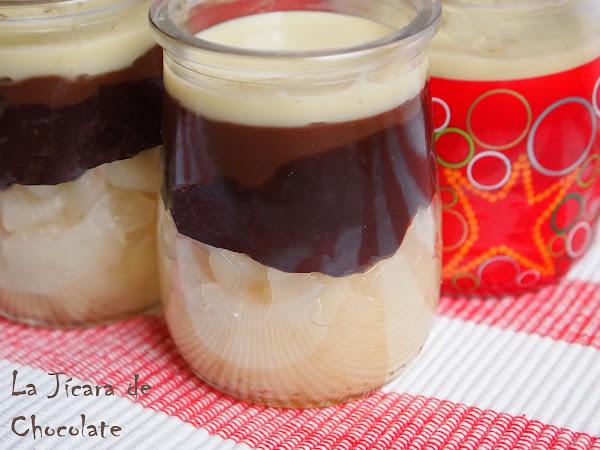Receta del día: vasitos de tres chocolates con pera