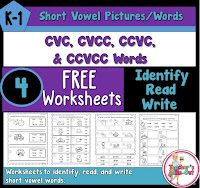 FREE Short Vowel Worksheets