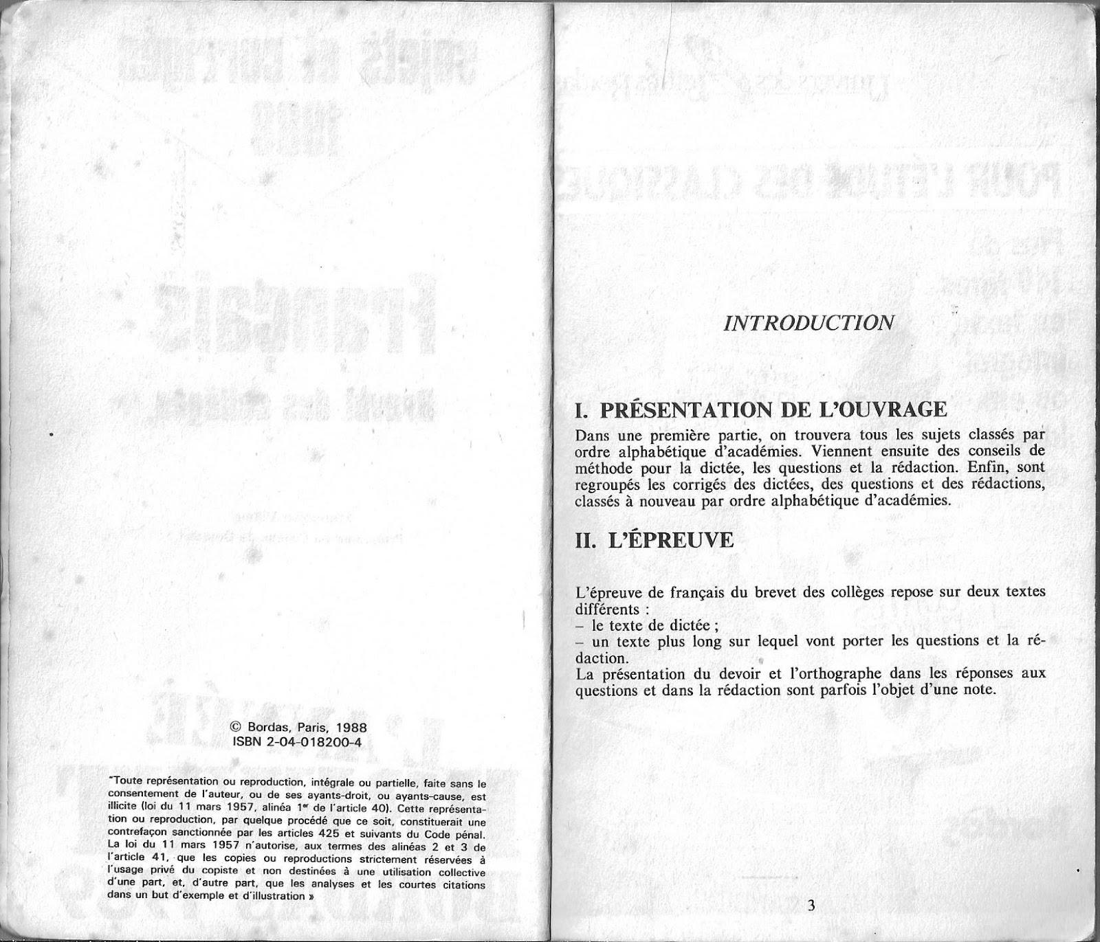 brevet des colleges francais