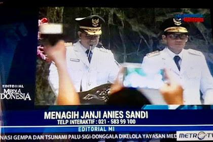 "JEBRET! Metro Tv Bikin Headline ""MENAGIH JANJI ANIES SANDI"" Suryo Prabowo: Kapan Metro Tagih Janji Jokowi!?"