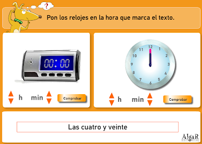 http://www.primerodecarlos.com/TERCERO_PRIMARIA/archivos/actividades_capicua_tercero/7/relojes.swf