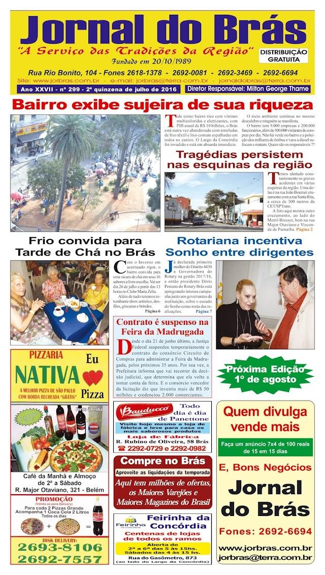Destaques da Ed. 299 - Jornal do Brás