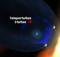 A teleportation station near the Solar System.