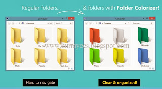 How to customize folders with different colours in Windows