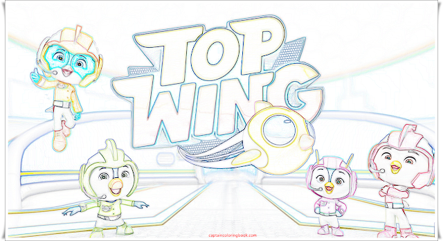 Coloring Page Top Wing