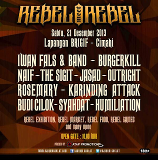 Konser Rebel Meet Rebel Iwan Fals, Burgerkill, Naif, The SIGIT dll.
