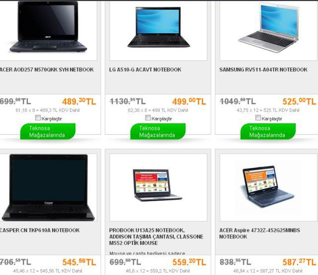 en ucuz laptoplar ve noteebokk fiyatları