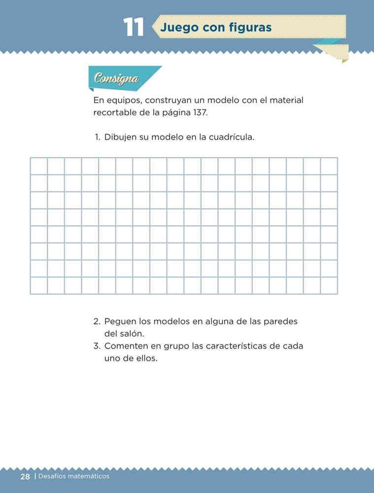 Juego con figuras - Desafío 11 Desafíos Matemáticos primer grado