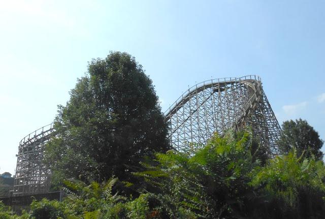Roller Coaster at Hersheypark In Hershey Pennsylvania