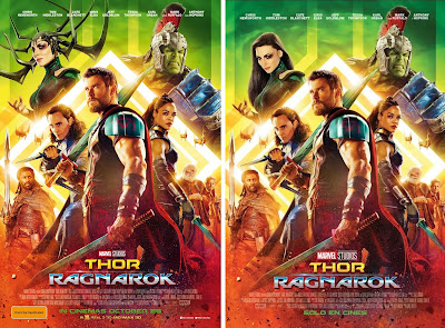 Marvel's Thor Ragnarok International Theatircal One Sheet Movie Posters