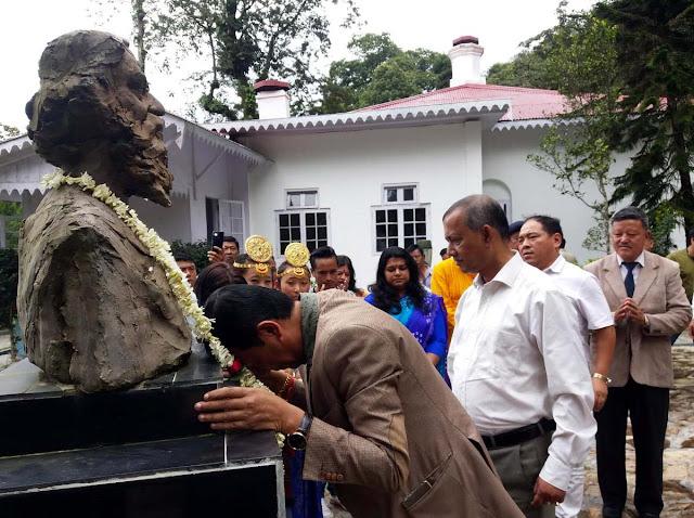 Gautam deb, Binay Tamang at Rabindranath 78 death anniversary mungpoo