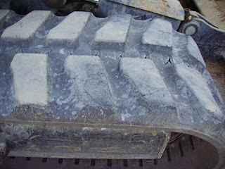 Install Replace Mini Excavator Rubber Tracks