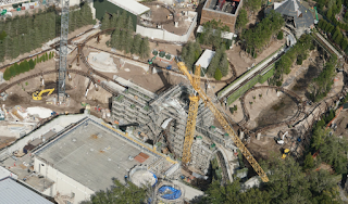The New Harry Potter Coaster From the Air.