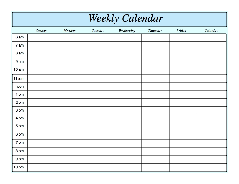 Template For Weekly Planner Weekly Planner Template  Free Schedule