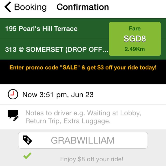 More GRABCAR $8 Promo Codes to use!!! (LAST 2 DAYS) | OnlyWilliam