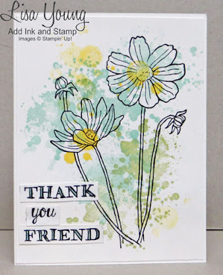 Stampin' Up! Helping Me Grow stamp set and Gorgeous Grunge stamp. Clean and simple card. Handmade card by Lisa Young, Add Ink and Stamp