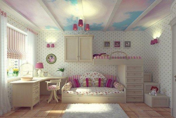 интерьет комнаты для девочки