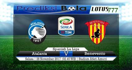 Prediksi skor Atalanta vs Benevento 28 November 2017