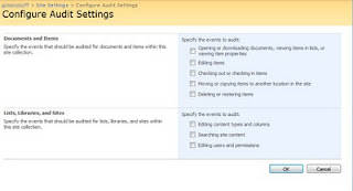 SharePoint 2007 site collection auditing