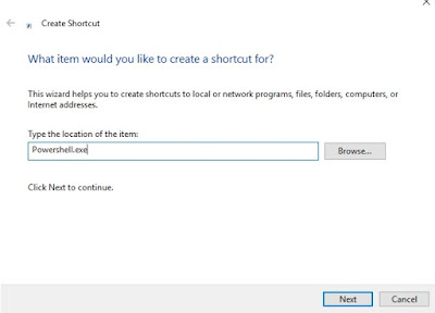 PowerShell Shortcut