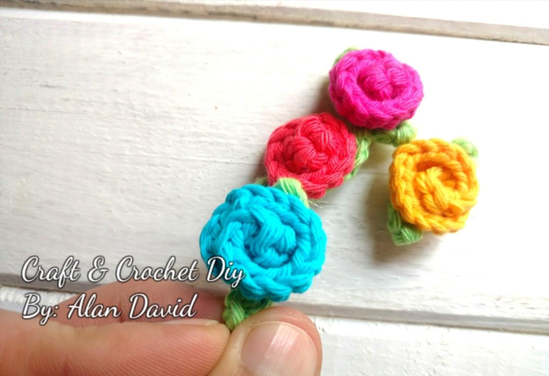 Alan Craft Crochet Diy Mini Flores Tejidas A Crochet Rapido Y Facil