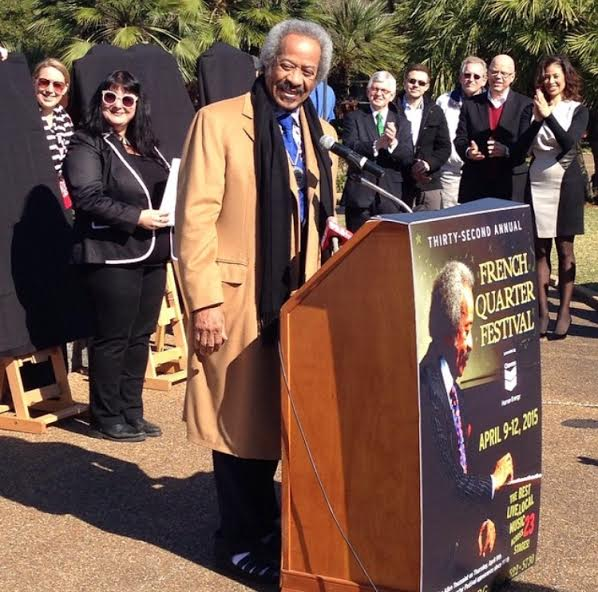 Allan Toussaint French Quarter Festival press conference 2015