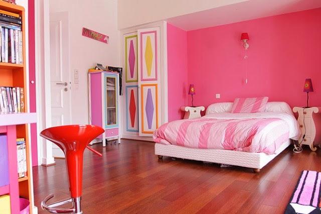 dormitorio paredes rosa