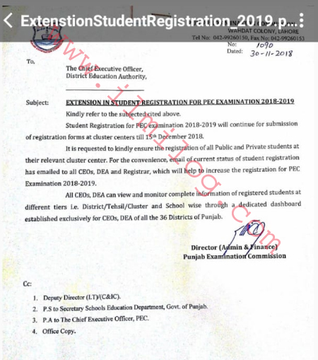 Punjab Examination Commission PEC