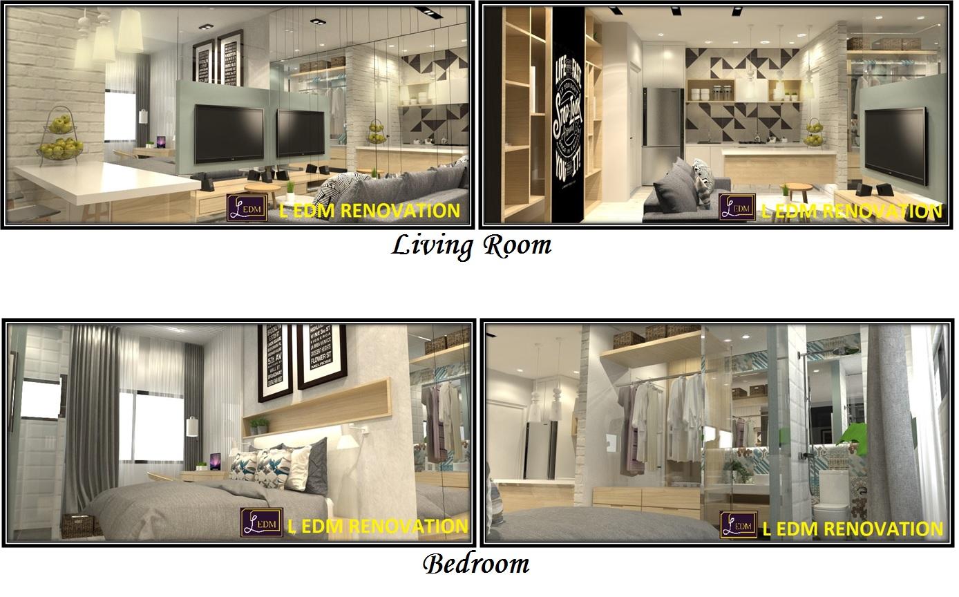 l edm renovation studio interior design 477 sqft 732 sqft year 2015. Black Bedroom Furniture Sets. Home Design Ideas
