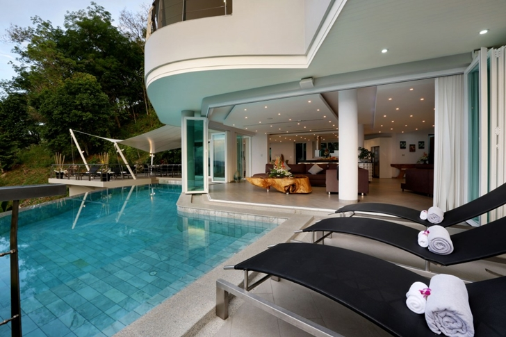 Terrace of Modern Villa Beyond in Phuket