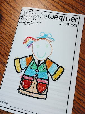 The Kinderhearted Classroom weather journal data collection and graphing