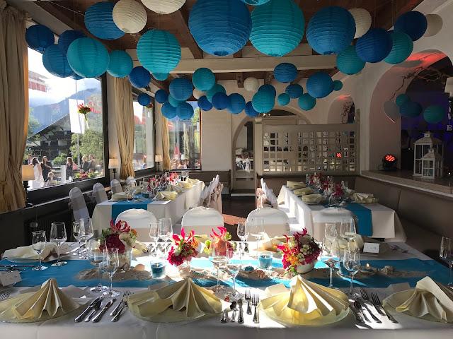 Seehaus Hochzeit, exotisch heiraten, Malediven Karbiik-Hochzeit im Seehaus, Riessersee Hotel Garmisch-Partenkirchen Bayern, Hochzeitsplanerin Uschi Glas