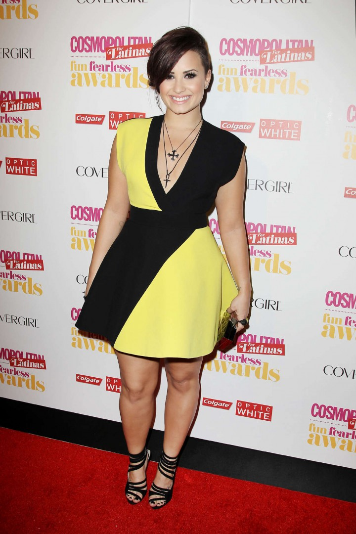 Demi Lovato at the 2014 Cosmopolitan Fun Fearless Latina Awards