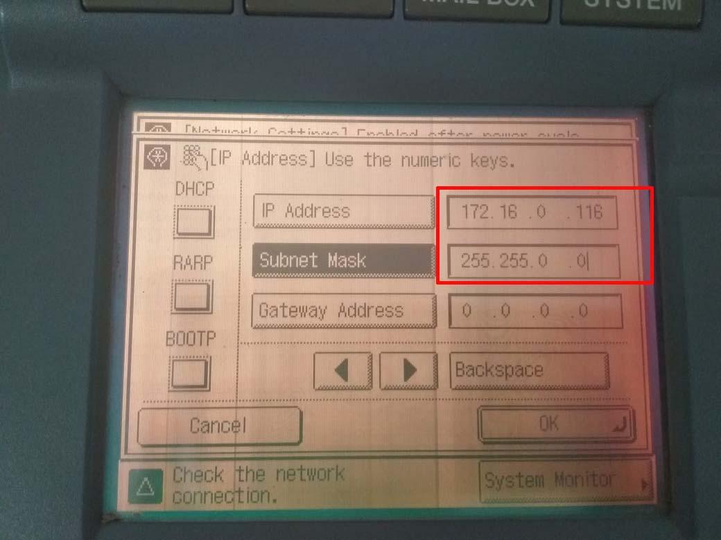 Menghubungkan mesin fotocopy dengan kabel LAN tanpa wifi - Pesan Copy