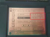 Menghubungkan mesin fotocopy dengan kabel LAN tanpa wifi